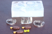 Multi-Clear-silicone Ring Moulds,2 rings size 9, 1 ring size 7,+3 ice cream + 1 bow.
