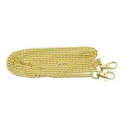 2 Pcs 120cm Purse Handbag Shoulder Strap Chain bag Replacement Handle Gold