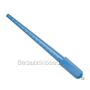 30cm Long Plastic Ring Sizing Mandrel For Sizes 1 - 15 with Loop For Hanging
