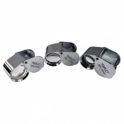 HTS 410C3 3Pc 10x / 20x / 30x 21mm Chrome Triplet Jeweller's Loupe Set