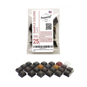 PremiumCraft Candle Dye Chip Sample Pack, 25 Colours