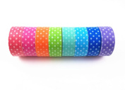 Yueton 8pcs Mini Dot Colourful DIY Decorative Washi Masking Tape