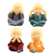 NOQ Four Little Monks Of Shaolin Kung Fu Boy Car Jewellery Ornaments Gifts Creative