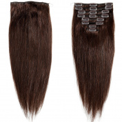 My Lady 41cm Double Weft 8 Pcs 18 clips in Remy Human Hair Extensions Dark Brown