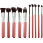Sminiker Premium Makeup Brush 10pcs/Set Cosmetics Foundation Blending Blush Eyeliner Face Powder Brush Makeup Brush Kit