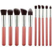 Sminiker Premium Makeup Brush 10pcs/Set Cosmetics Foundation Blending Blush Eyeliner Face Powder Brush Makeup Brush Kit