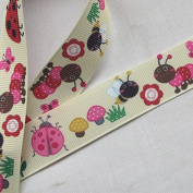 5YARDS 2.2cm Grosgrain Ribbon Boy Craft Car Ladyburg Bear Kangaroo Mix