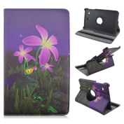 Tab E 8.0 Folio Case, SAVYOU Painted Patterns 360 Degree Rotating Magnetic Smart case PU Leather Protective Case For Samsung Tab E 20cm SM-T377