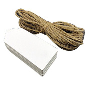Oulii 100pcs 90*40mm Wedding Gift DIY Luggage Tag Price Label with 20M Rope