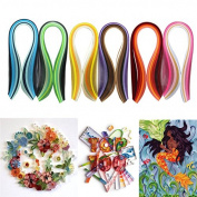 Mimgo Store 6 x 120 Stripes Quilling Paper 5mm Width DIY Mixed Colour Origami Paper Craft Toy