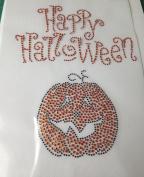 Happy Halloween Hot Fix Heat Press Transfer Rhinestone MOTIF Applique