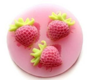 3 Cavity small Strawberry Silicone Sugar Resin Craft DIY Moulds DIY gum paste flowers Cake Decorating Fondant Mould