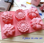 6 Cavities Big Flower Silicone Cake Baking Mould Cake Pan Muffin Cups Handmade Soap Moulds Biscuit Chocolate Ice Cube Tray DIY Mould