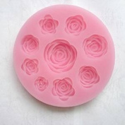 Rose Blooming Sillicone Fondant and Gum Paste Silicone Resin Candy Moulds Cake Decoration Moulds