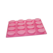 16 Oval Cavities Guest Soap Chocolate Candy Maker Silicone Mould