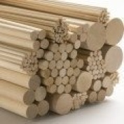 Science Purchase Birch Wood Dowels 0.8cm X 90cm 10 PACK