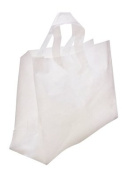 24 Clear 16x6x12 Frosted Plastic Gift Bag with Crafting Insert