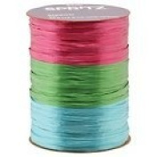 Spritz Curling Ribbon 3 End X 13m Blue, Apple Green, & Fuscia