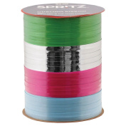 Set of (2) Spritz Curling Ribbon 4 End X 21m Blue, Green, Silver & Fuscia