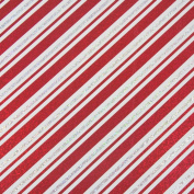 JAM Paper® Christmas Design Wrapping Paper- 2.3sqm - Sparkling Red & White Candy Cane Stripe - Sold Individually