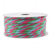 Gift Wrap Spritz Fabric Ribbon 11m Brights Yarn