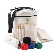 Life Glow Yarn Drum Storage Bag Knitting and Crochet Tote for Carrying Skeins, Knitting and Crochet Needles Craft Tools