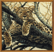 Leopard Counted Cross Stitch Kit-60cm x 60cm 10 Count