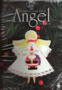 """Counted Cross Stitch Angel Ornament """"Ho-Ho-Ho"""""""