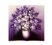 DIY Crystal Diamond Rhinestone Painting By Number Purple flower basket 40*50cm