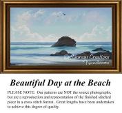 Beautiful Day at the Beach, Cross Stitch Pattern, Counted Cross Stitch Pattern