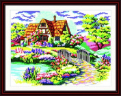 Good Value Cross Stitch Kits Beginners Kids Advanced - Dream House 11 CT 60cm x 43cm , DIY Handmade Needlework Set Cross-Stitching Accurate Stamped Patterns Embroidery Home Decoration Frameless