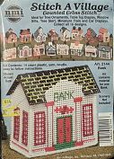Bank Counted Cross Stitch Kit Stitch Village Building Collectible NMI