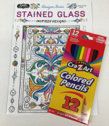 """Adult Colouring """"Stained Glass Inspired Designs"""""""