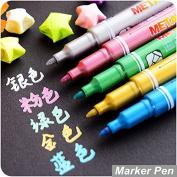 Bleiou 5 pcs/Lot Metallic Marker Pen for CD Ceramic Glass Plastic Wood Paper Paint Marker Office School Supplies