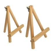 Colour Talk® 15cm Wooden Mini Tripod Easel Mini Display Stand Metal Adjustable Screw