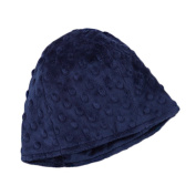 My Blankee Minky Dot Beanie with Lining, Navy, 6-12 Months