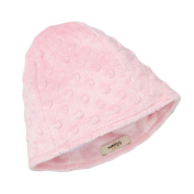 My Blankee Minky Dot Beanie with Lining, Pink, 6-12 Months