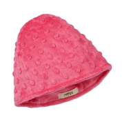 My Blankee Minky Dot Beanie with Lining, Raspberry, 6-12 Months