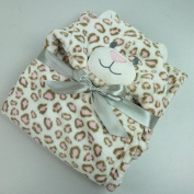 Hooded Baby Blanket - Leopard Print - Babies - Kids - Infants - Toddlers - Soft - Cuddly - Gentle on Baby's Skin - Easy Care - Machine Wash and Dry - Great Shower Gift