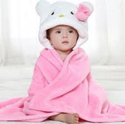 Hooded Baby Blanket - Pink-White - Babies - Kids - Infants - Toddlers - Soft - Cuddly - Gentle on Baby's Skin - Easy Care - Machine Wash and Dry - Great Shower Gift