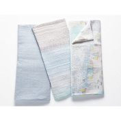 Coyuchi Organic Muslin Swaddle Blanket - Cool Stripe Blue - Sold Individually