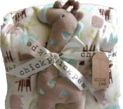 Chick Pea Plush Two-Piece Baby Blanket and Giraffe Toy