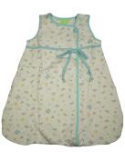 Snopea - Baby Girls Sleeveless Soap Suds Quilted Lounge Bag, White, Aqua 29270-Newbornsizes