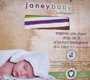 Janey Baby 100% Organic Cotton Crib Sheet Striped Pattern