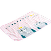 Cute Waterproof Breathable Infant Crib Sheet Baby Mat 70 x 90 CM-Pink Eagle