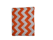 Baby Doll Chevron Fitted Sheet, Orange
