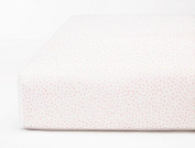 Coyuchi Organic Crib Sheets - Watercolour Dot Print - Pink
