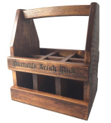 Portable Irish Pub 6-beer Caddy Carrier Made from Reclaimed Wood