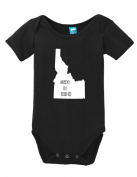 Made In Idaho Onesie Funny Bodysuit Baby Romper Black 6-12 Month