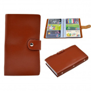 [Mother's Day Gifts for Women]90 Card Pockets Soft Leather Business Name Card Holder Credit Card Holder Wallet